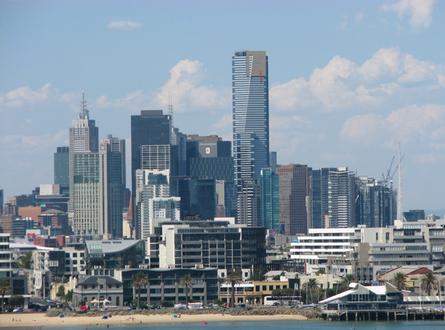 photo of Melbourne city skyline