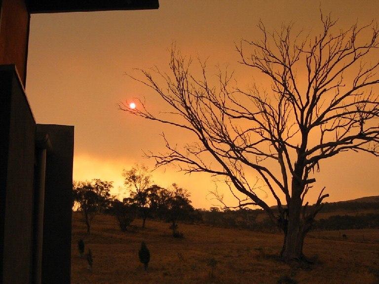 Sun through smoky sky