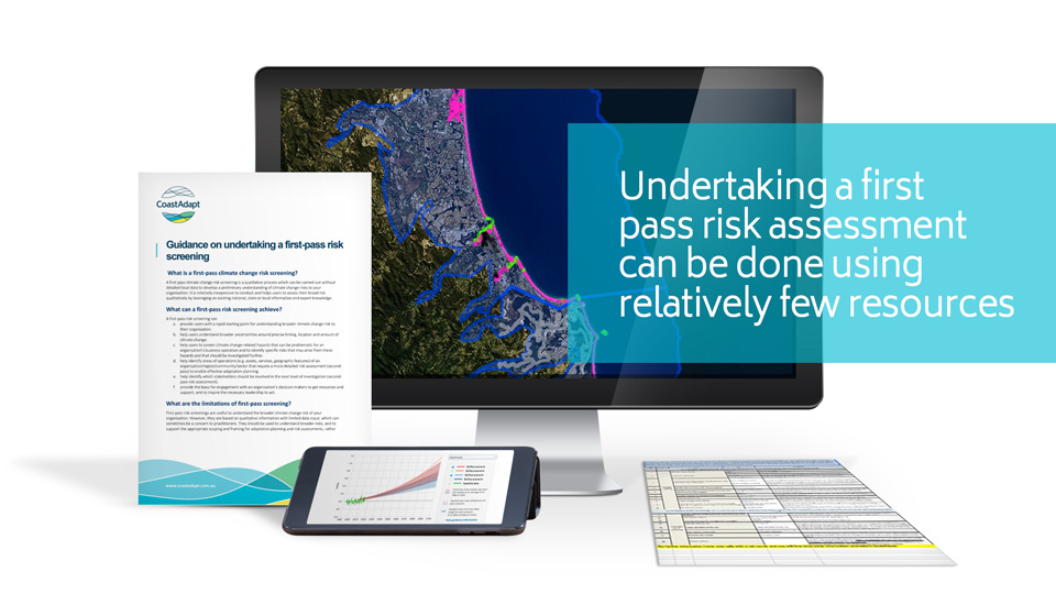 Undertaking a first pass risk assessment can be done using relatively few resources