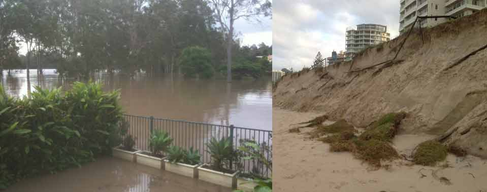 Past flooding and erosion events, South East Queensland