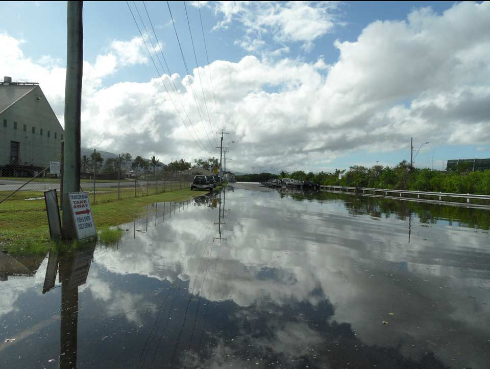 Inundation at Ross Street, Portsmouth, Cairns, during 2012 king tide