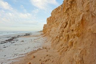 eroding beach