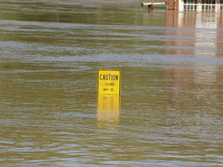flood water over sign