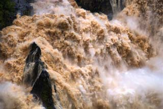 rushing flood water